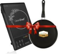 Greenchef GCMAXOCOMBO_01 Induction Cooktop(Black, Push Button)