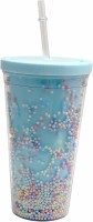 Art N Soul Sipper Shine Like The STAR Design With Straw 500 ml Sipper(Pack of 1, Blue, Tritan)