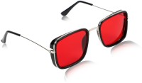 Yiweto Wayfarer, Retro Square, Aviator Sunglasses(For Men & Women, Red)