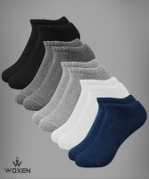 Woxen Men & Women Solid Ankle Length(Pack of 5)