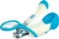 MeeMee Gentle Nail Clipper with Magnifier (White/Blue)