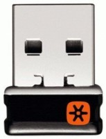 Logitech C-U0007 Unifying Receiver for Mouse and Keyboard Works with Any Product That Display The Unifying Logo (Orange Star, Connects up to 6 Devices) USB Adapter(Black)