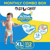 Miss & Chief Active Diaper Pants - Monthly Combo Box - XL(112 Pieces)
