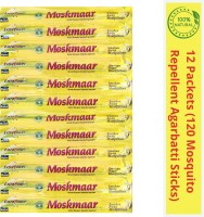 Ultima Search Moskmaar 100% Natural Herbal Mosquito Repellent Agarbatti With Essential Oils(12 x 10 Units)