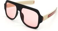 BAJERO Retro Square Sunglasses(For Men & Women, Pink)
