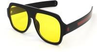 BAJERO Retro Square Sunglasses(For Men & Women, Yellow)