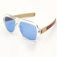BAJERO Retro Square Sunglasses(For Men & Women, Blue)