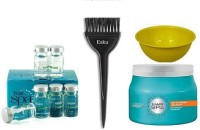 eska hair Brush, Deep nourshing creambath hair spa 500ml & purifying concntrate & bowl (set of 4)(4 Items in the set)