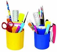 CARIZO 2 Compartments Plastic Plastic Storage Box(Yellow, Blue)