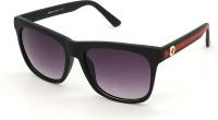 BAJERO Retro Square Sunglasses(For Men & Women, Black)