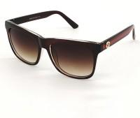 BAJERO Retro Square Sunglasses(For Men & Women, Brown)