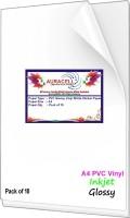 AURACELL 10 Pcs PVC Glossy Vinyl White Self Adhesive Sticker Paper for Inkjet Printer Unruled A4 120 gsm Printer Paper(Set of 1, White)