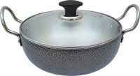 LooksGood premium range of aluminium kadhai Kadhai 24 cm diameter with Glass Lid 3 L capacity (Aluminium, Induction Bottom) Kadhai 24 cm diameter with Lid 3 L capacity(Aluminium, Induction Bottom)