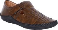 aadi Men Brown Sandals