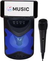 Techobucks New Multipurpose Bluetooth Speaker With Handheld Karaoke Singing Mic & Mobile Holding Space |Dustproof |Splashproof |Speaker |modern design, strong, durable Speaker 10 W Bluetooth Home Theatre(Blue, Stereo Channel)