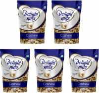 Delight nuts Cashew Roasted & Salted - 200g (Pack of 5) Cashews(5 x 200 g)