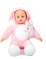 Miss & Chief Baby Doll with Animal Costume(White, Pink)