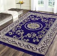 DELFRIQ Multicolor Velvet Carpet(150 cm  X 210 cm)