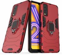 BOZTI Back Cover for Vivo Y20, Vivo Y20i, Vivo Y20G, Vivo Y12s(Red, Rugged Armor)