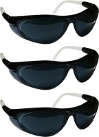 Vezual 99% uv Protected (Pack of 3) Power Tool, Welding, Laboratory, Wood-working  Safety Goggle(Free-size)