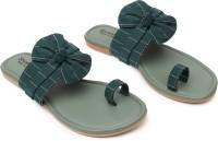 Shoestail Women Green Flats