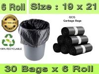 GCG PACK OF 6 Medium 15 L Garbage Bag(180Bag )