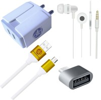 OTD Wall Charger Accessory Combo for Intex Aqua Raze, Intex Aqua Ring, Intex Aqua S3, Intex Aqua S7(White, Grey)