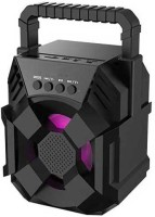 Techobucks High Quality Ultra BASS & premium audio quality Portable wireless karaoke speaker with , In-built DJ light Carry Handle Support Bluetooth, FM Radio, USB, SD Card Reader, Aux 10 W Bluetooth Speaker(Black, Stereo Channel)