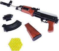 Miss & Chief Ak 47 Toy Gun/ Shooting Gun for Kids with Laser Light and 500 Bullets Guns & Darts(Multicolor)
