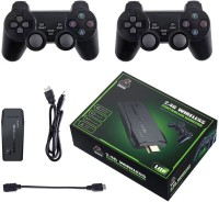 PTCMart USB Wireless Console Game Stick Video Game Console Built-in 3000 Classic Games 8 Bit/16 Bit Mini Retro Controller HDMI Output Dual Player- 4K Ultra HD Game Stick 32 GB with including PS1 / ATARI / MAME / SFC / FC / GBA / GB / GBC / MD simulator games total 3000 +(Black)