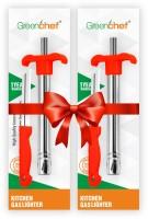 Greenchef Lighter Knife Steel Gas Lighter(Red, Pack of 2)