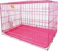 Petzlifeworld High Quality Imported Powder Coated Feet Pink Cage Dog Cage