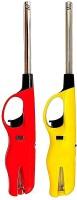Krintonwel Suraksha Kitchen Stove Gas Lighter, Multicolored (Red/Yellow) Plastic, Steel Gas Lighter(Multicolor, Pack of 2)