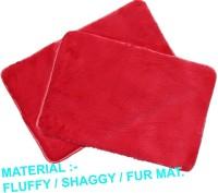 NRJ WORLD Silk Floor Mat(Red, Medium)