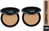MAYBELLINE COMPACT POWDER 220 NATURAL BEIGE 8 G 2PCS Compact(NATURAL BEIGE, 16 g)