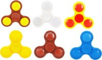 PREMSONS 6 Hand Relief Toy Premium Quality Spinners Multicolor(Multicolor)