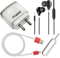 uddo Wall Charger Accessory Combo for Realme Narzo 20A, Realme U1, Reliance Lava EG841, Ringing Bells Smart 101(Multicolor)