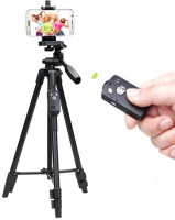 Wanzhow Lightweight & Portable Portable 7 Feet (84 Inch) Long Tripod Stand with Adjustable Mobile Clip Holder for All Mobiles & Cameras Tripod, Monopod, Tripod Ball Head, Tripod Kit(Black, Supports Up to 1500 g)