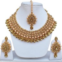 Girlyfashion Mother of Pearl Jewel Set(Gold)