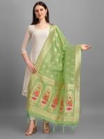 DEVANGI Pure Silk Woven Women Dupatta