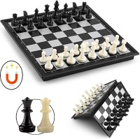 Bestie Toys Chess Board Folding With Magnetic Pieces And Standard Board (10 Inch) 25 cm Chess Board(Multicolor)