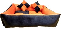 RK PRODUCTS 04 BLACK WITH ORANGE M Pet Bed(Black)