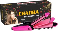 CHAOBA 3 In 1 Hair Care Collection of Electric Hair Curler, Hair Straightener & Hair Crimper with Ceramic Plate machine Hair Straightener(Pink)