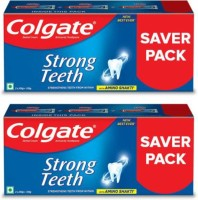 Colgate Strong Teeth Anticavity Toothpaste, India's No. 1 Toothpaste, Amino Shakti Formula Toothpaste(1000 g, Pack of 2)