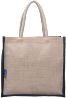 Promise Bags Perfect Eco Friendly Naturally processed Multipurpose Reusable Jute Bags(Full Cream Black Boarder ) Multipurpose Bag(Multicolor, 5 L)