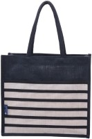 Promise Bags Perfect Eco Friendly Naturally processed Multipurpose Reusable Jute Bags(Black , White) Multipurpose Bag(Multicolor, 5 L)