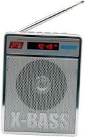 CRETO SL-413 RM113 Portable Fm Radio Supports usb pendrive, aux memory card FM Radio(Silver)