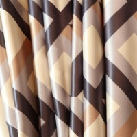 LAVNIK 1 TC Polyester Double Checkered Bedsheet(Pack of 1, cream brown cheks)