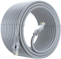 Sadow High Speed 10 Meter CAT-6 Network RJ45 Ethernet Patch Cord 10 m LAN Cable(Compatible with Desktops, Laptops, Servers, Gaming Consoles, TV, Grey)