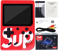 Aseenaa 400 in 1 SUP Super Game Box with Rechargable Gaming Console Toy for Kids | Battery Operated LED Screen Handheld Playing Set | Portable TV Connect Video Retro Classic Games Toys | Color : Red 8 GB with Arcade retro games, Logic & math, Sports, Puzzle, Arcade, Shooting, Action, Racing, Fightin